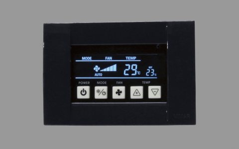 sin logo panel electrico negro